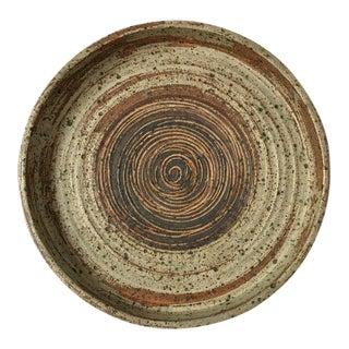 Tue Poulsen Danish Modern Large Stoneware Studio Pottery Tray