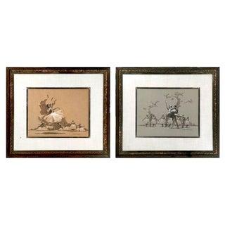 Ballet Lithographs by A. Von Munchhausen - A Pair