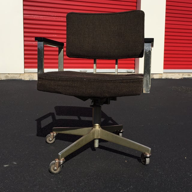 Mid-Century Desk Chair by Good Form Aluminum - Image 3 of 7