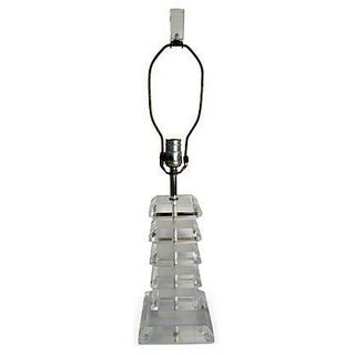 Stacking Squares Lucite Lamp