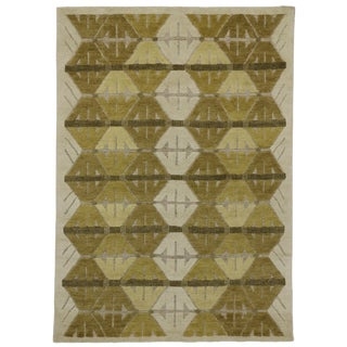 "Geometric Design High & Low Pile Rug - 5'5"" x 7'7"""