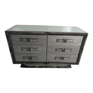 Silvered Distressed Mirrored Dresser
