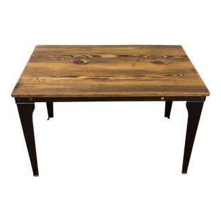 Industrial Dark Stain Coffee Table