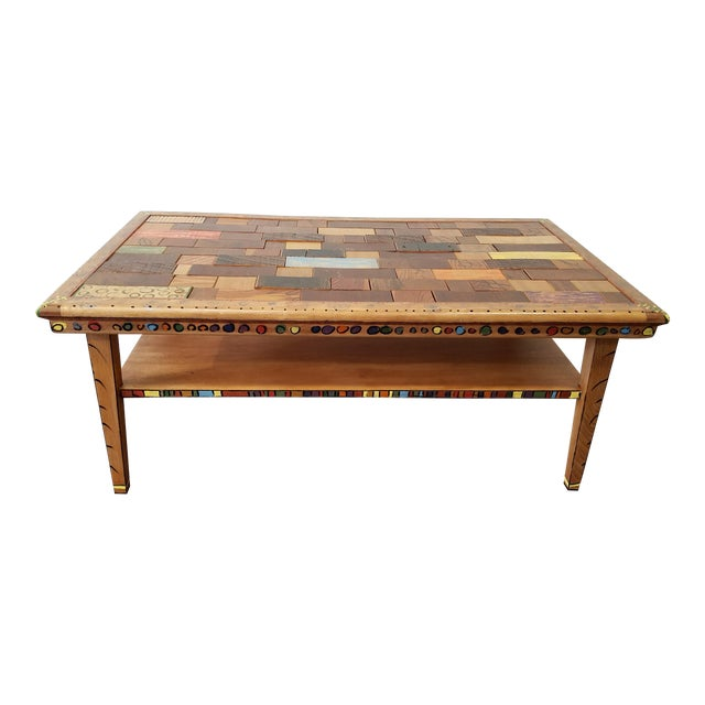 Phoenix Puzzle Top Coffee Table Chairish