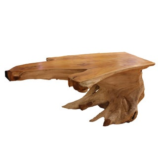 Organic Teak Root Slab Cocktail Table
