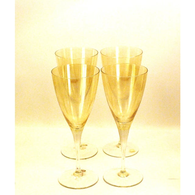 Bohemia Crystal Glassware Gold Iridescent - S/17 - Image 4 of 9