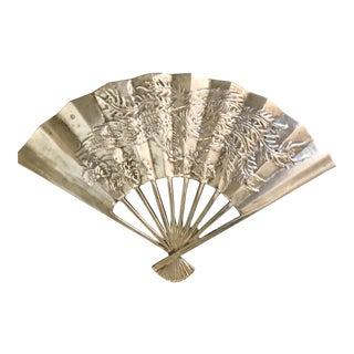 Vintage Detailed Brass Fan