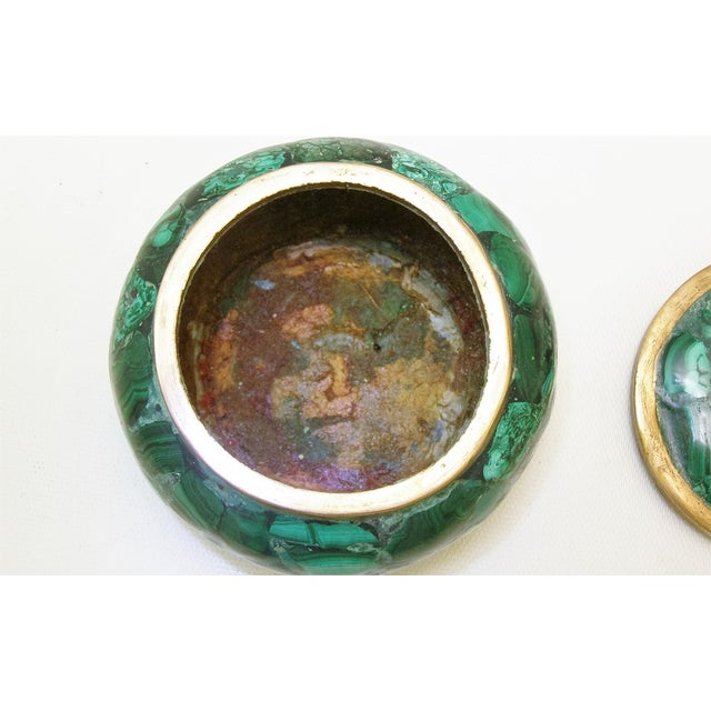 Round Malachite Lidded Box - Image 7 of 8