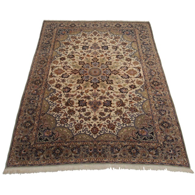 Rugsindallas Vintage Persian Design Wool Area Rug: RugsinDallas Vintage Persian Najafabad Area Rug