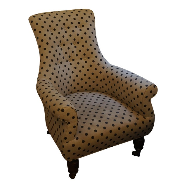 Anthropologie Brown Polkadot Astrid Chair - Image 1 of 11
