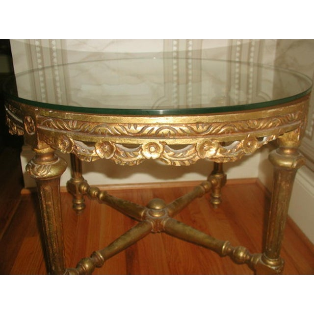 French 19th C. Hand Carved Gilt Coffee Table - Image 7 of 10