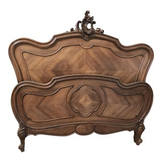 Antique French Rococo Full Bed Frame