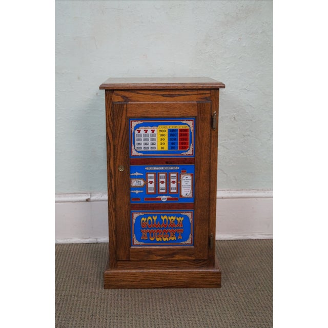 Image of Repurposed Golden Nugget Slot Machine Side Table