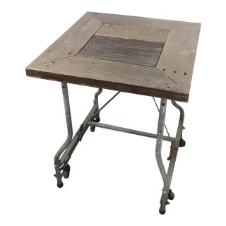 Reclaimed Gray Redwood Plant Stand