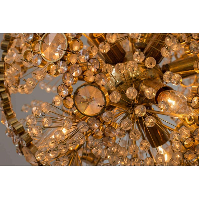 Gilt Brass J.L. Lobmeyr Chandelier - Image 8 of 9