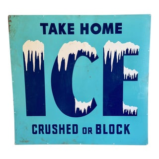 "Vintage New Old Stock ""Ice"" Sign"