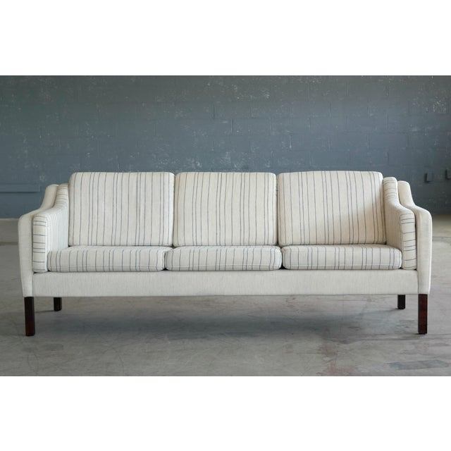Børge Mogensen Style Three-Seat Sofa Model 2423 by Mogens Hansen - Image 4 of 9