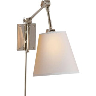 Polished Nickel Pivoting Sconces - A Pair