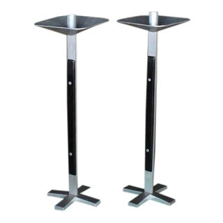 Pair of Large Oversize Tall Swiss Candlesticks