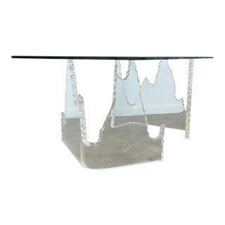 Vintage Lucite Base Dining Table