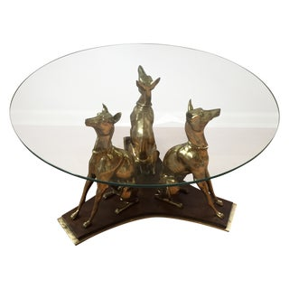 Trio of Whippets Greyhound Palm Beach Table