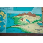 Image of Vintage 60s Costello Pull Down Map of World