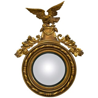 American Federal Style Gilt Eagle Convex Mirror