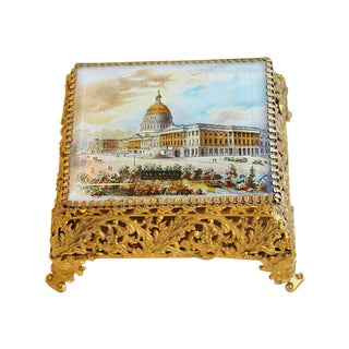 1940s Washington DC Jewelry Keepsake Box