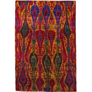 "Contemporary Hand Knotted Area Rug - 5'3"" X 7'10"""