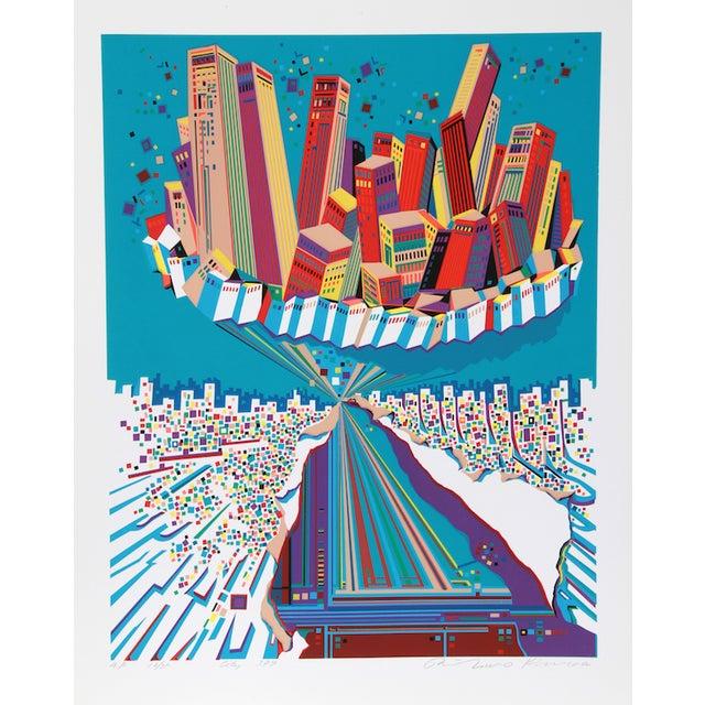 "Risaburo Kimura, ""City 379,"" Serigraph - Image 1 of 2"