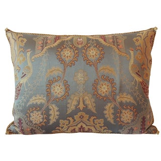 Vintage Brocaded Textile Silk Pillow.