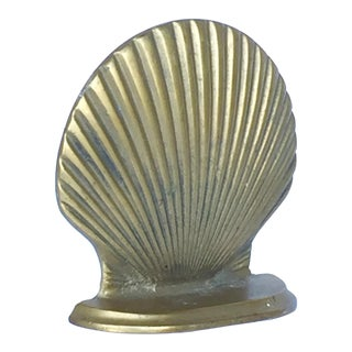 Single Brass Shell Bookend