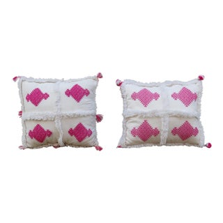 Moroccan Kilim Pillow - A Pair