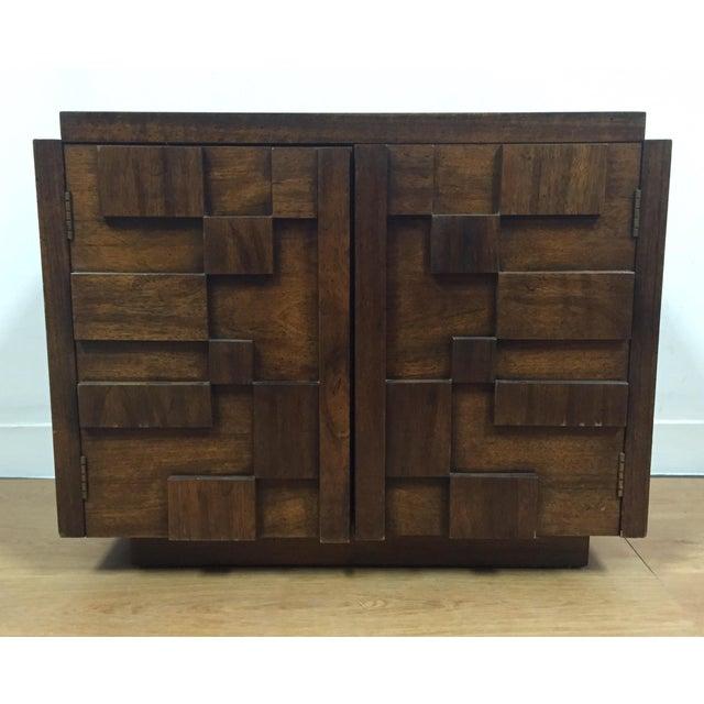 Lane Furniture Mid Century Brutalist Nightstand Chairish