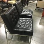Image of Black Leather & Chrome Chairs- A Pair