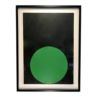 "Stephanie Henderson ""Emerald Dot on Carbon Black"""