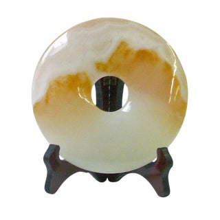 Chinese Natural Stone Round Feng Shui Display