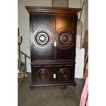 Image of Vintage Circle Motif Wood Armoire