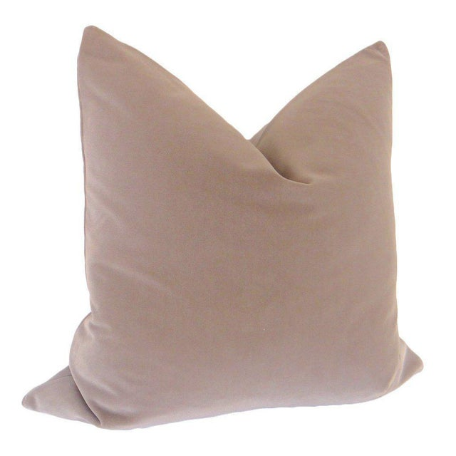 "22"" Stone Velvet Pillows - a Pair - Image 4 of 4"
