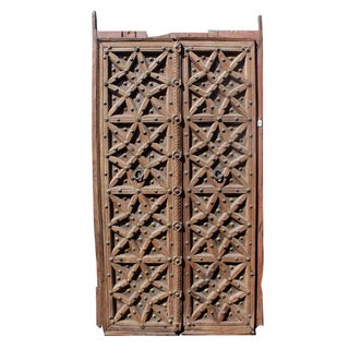 Antique Rajasthan Doors with Brass Work