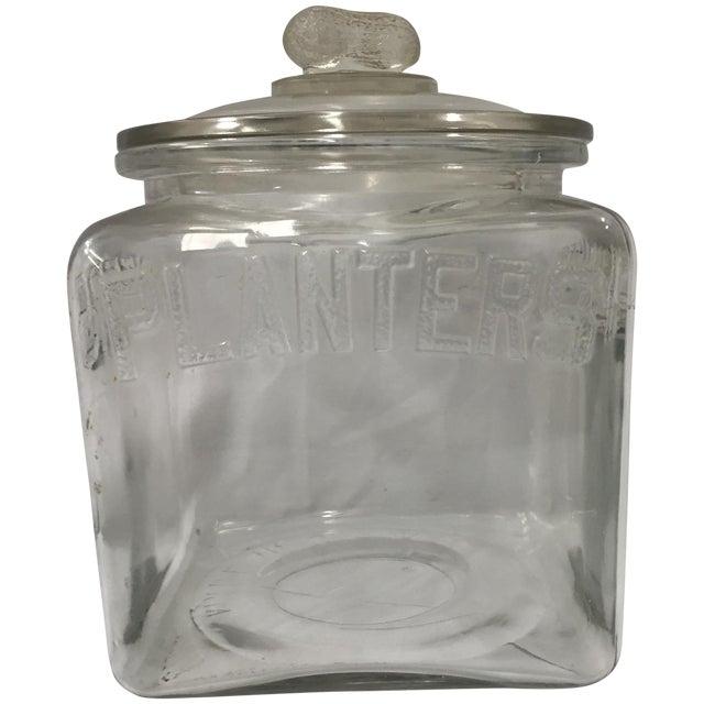 Image of Vintage Planters Peanuts Glass Store Display Jar