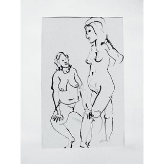 The Conversation Ink Drawing
