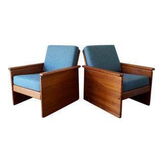 Vintage Tarm Stole Teak Lounge Chairs - A Pair