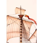 Image of Santa Maria Ship Watercolor