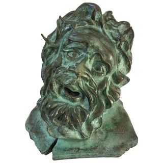 S. Lestage French Bronze Sculpture of Christ