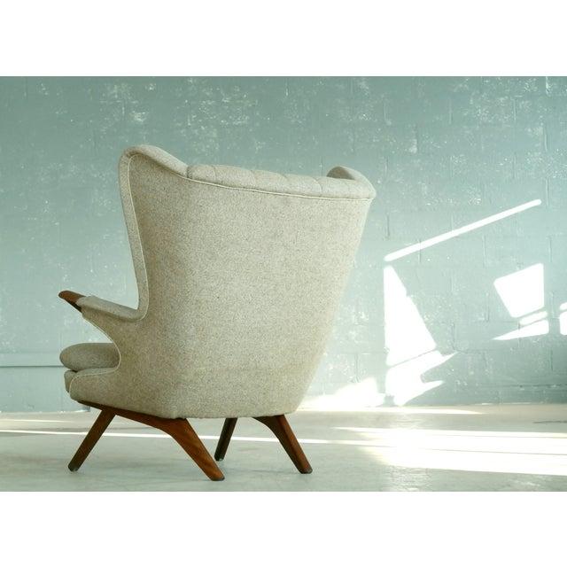 Sven Skipper 1960s Papa Bear Chair Model 91 in the Style of Hans Wegner - Image 7 of 11