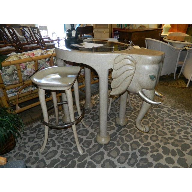 Marge Carson Elephant High Table & Stools - Set of 3 - Image 3 of 9