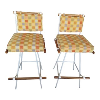 1960's Cleo Baldon Style Swivel Bar Stools - Pair