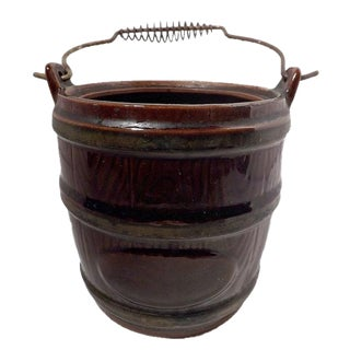 Ceramic Bucket Kitchen Utensil Caddy