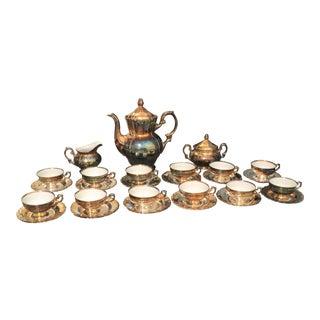 Antique Vintage Gareis Porzellan Bavaria Tea Pot Set - Set of 29